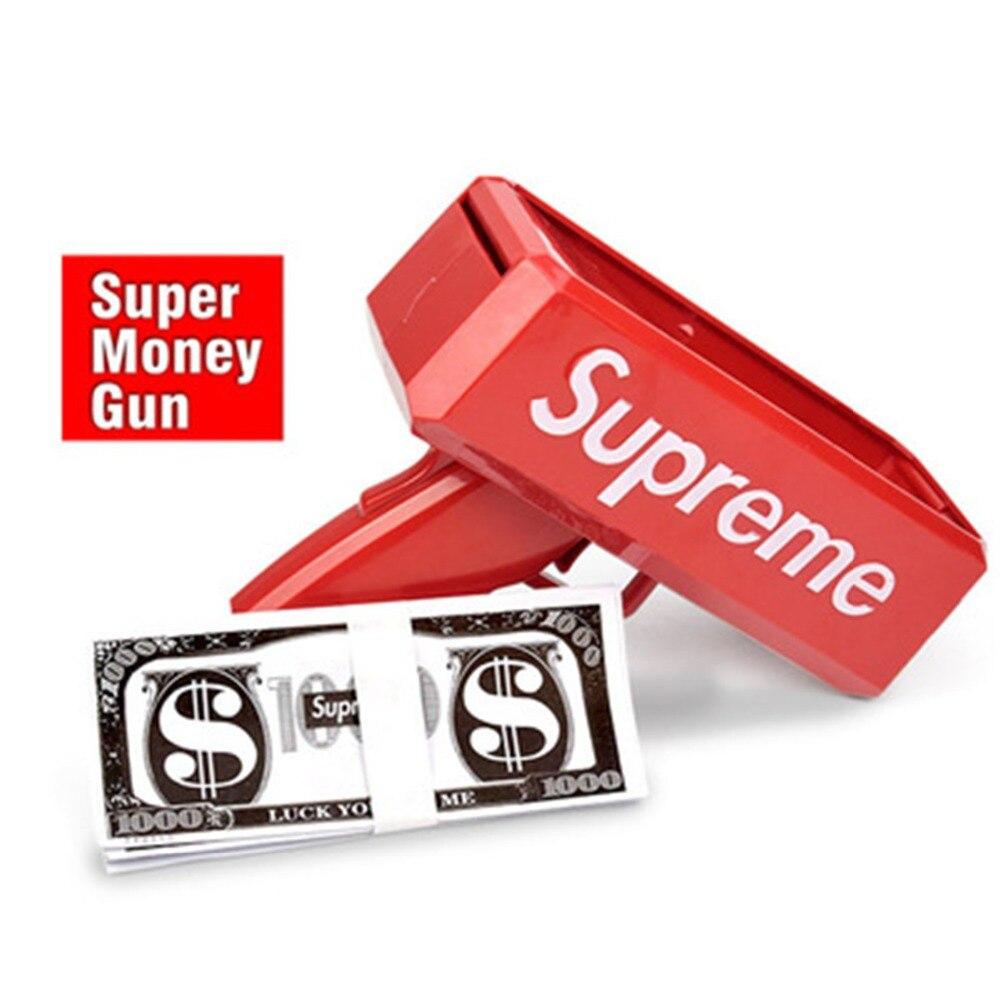 Sprinkle gun Super Gun dollar gun shot money grab money machine spray money spit money gun toy banknote