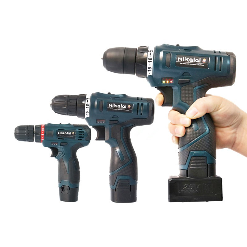 12V 16.8V 25V Lithium Battery Cordless Electric Drill Multifunction Electric Screwdriver Hand Torque Drill Driver Power Tools