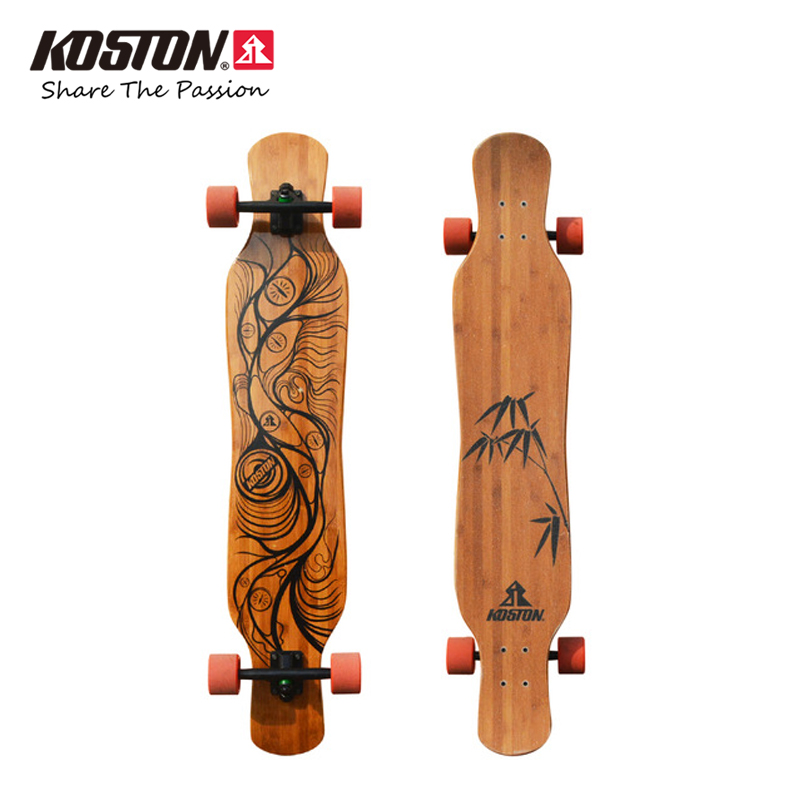 KOSTON pro dancing style longboard completes with bamboo  canadian maple mixed