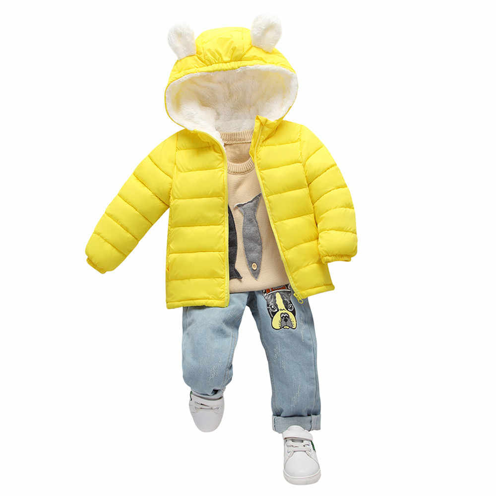 2018 New Fashion Infant Newborn Baby Girls Boys Clothes Children Winter Cotton Warm Soft Hooded Full Sleeve Outfits Clothing