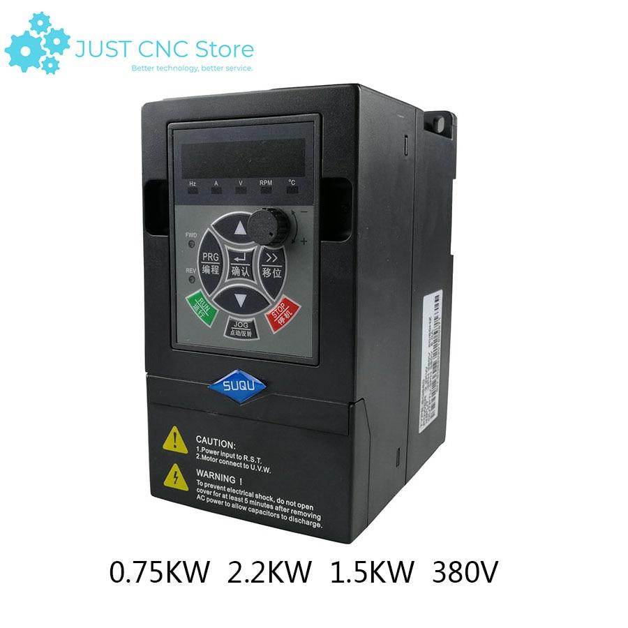 380 V pojedyncze w trzech przemiennik częstotliwości 0.75kw 2.2kw 1.5kw VFD przetwornik częstotliwości konwerter o zmiennej częstotliwości