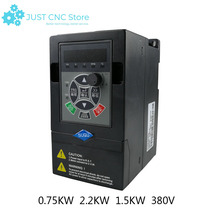 цена на 380V single in three out general frequency converter 0.75kw 2.2kw 1.5kw VFD inverter Frequency Converter Variable Frequency