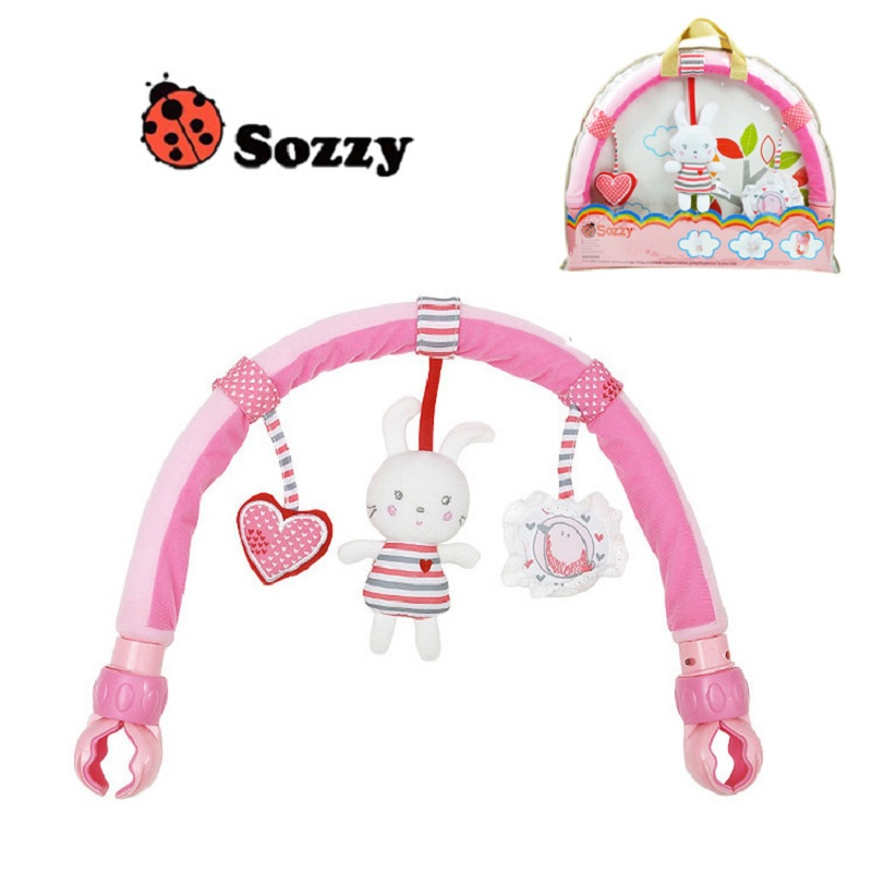 [Sozzy] 0-24M Rabbit Baby Crib Toy Stroller Rattles Seat Take Along Travel Arch Toys for Pram