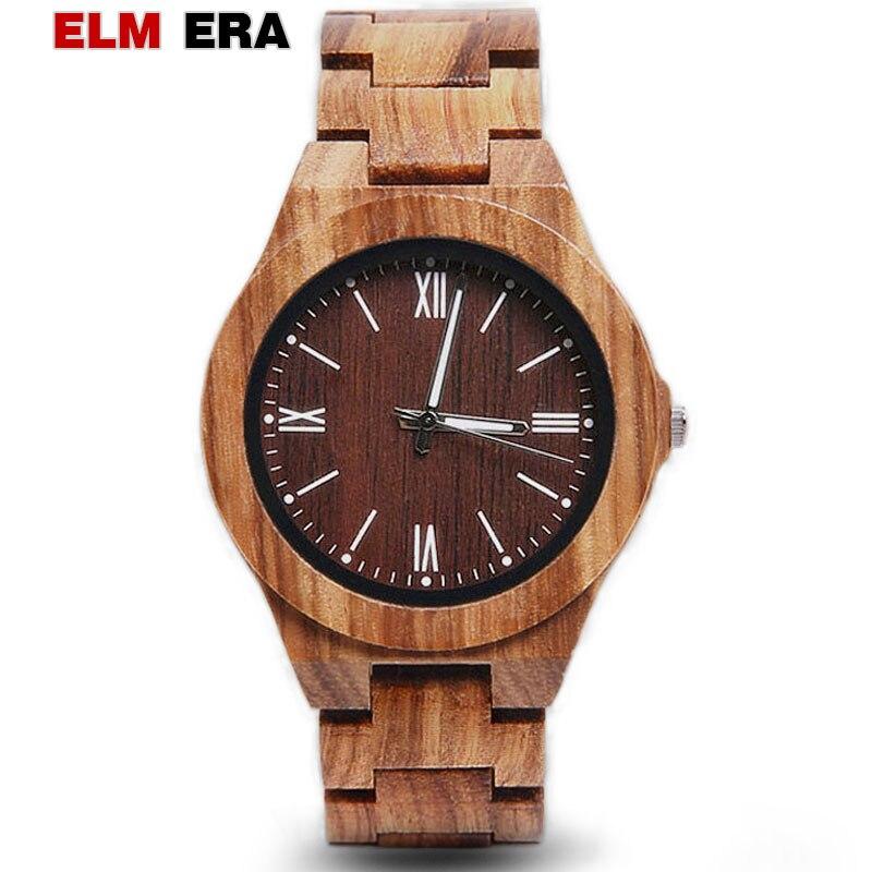 ELMERA Watch Men Fashion Rome Quartz Clock Mens Sport Watch 2018 Design Men's Watches  Brown Quartz Luxury Brand Watch