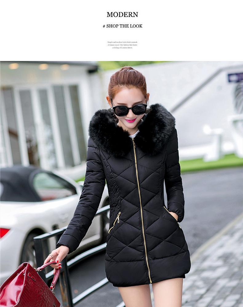 warm female coat thick 14