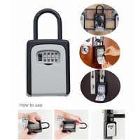 f7262ad1c865 4-кодовый замок ключ Безопасный ящик для хранения замок безопасности  Главная Открытый D315