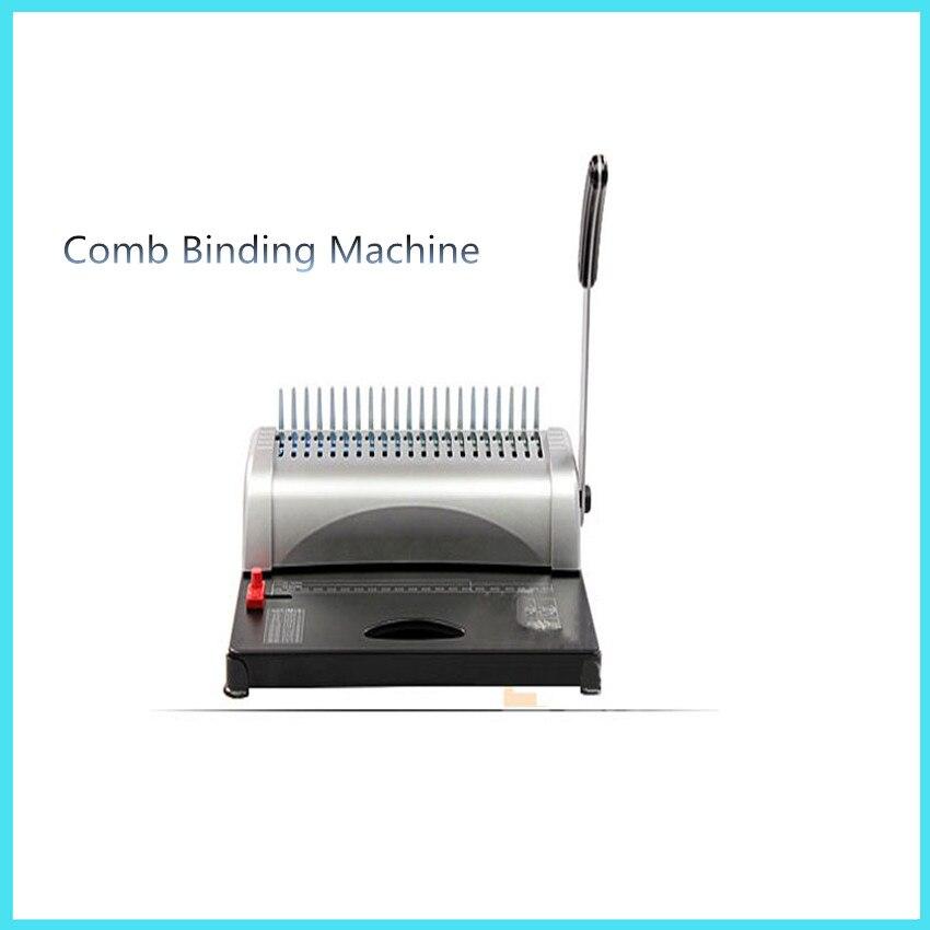 все цены на  GD-15 Adjustable Comb Binding Machine  A4  Manual Binding Machine punch 15 Sheets Easy Storage Office Supplies  онлайн