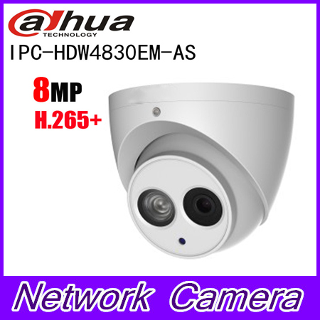 Dahua IPC-HDW4830EM-AS 8MP H.265 + IP Камера POE IP67 Full HD ИК глазного яблока Встроенный микрофон сети Камера