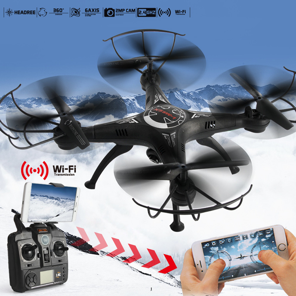 Original Drone MUQGEW 2 4G 4CH 6 Axis FPV RC Drone Quadcopter Wifi Camera Real Time