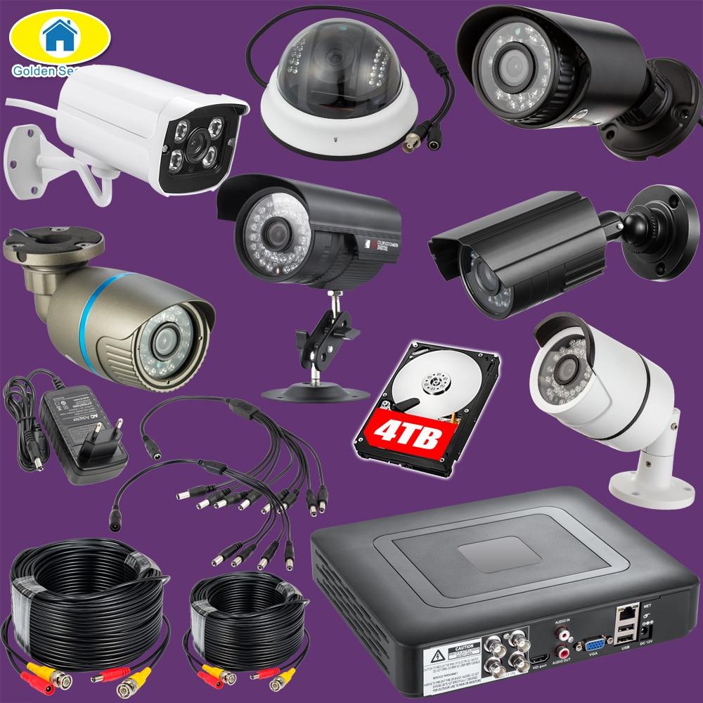 DIY 4CH 8CH 16CH DVR Recorder Outdoor Camera Security System Kit 2000TVL IR Weatherproof Indoor CCTV Camera System