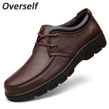 Мужские модельные туфли круглый носок удобные офисные туфли Оксфорд Формальные мужской обуви для мужчин из натуральной кожи коровы Плюс Большой Размеры EUR 38-47
