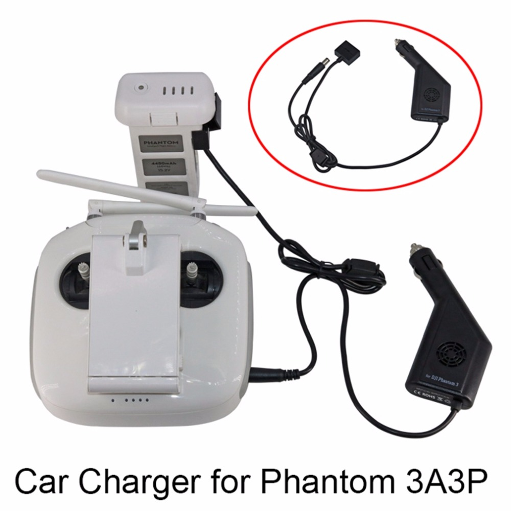 Car Charger for DJI Phantom 3 Adv Pro 4K Drone Battery Transmitter Fast Charging Portable Travel Transport Charger Spare Parts parrot minidrones series rolling spider mambo swing quadcopter drone parts fast charger jumping race sumo car battery charger