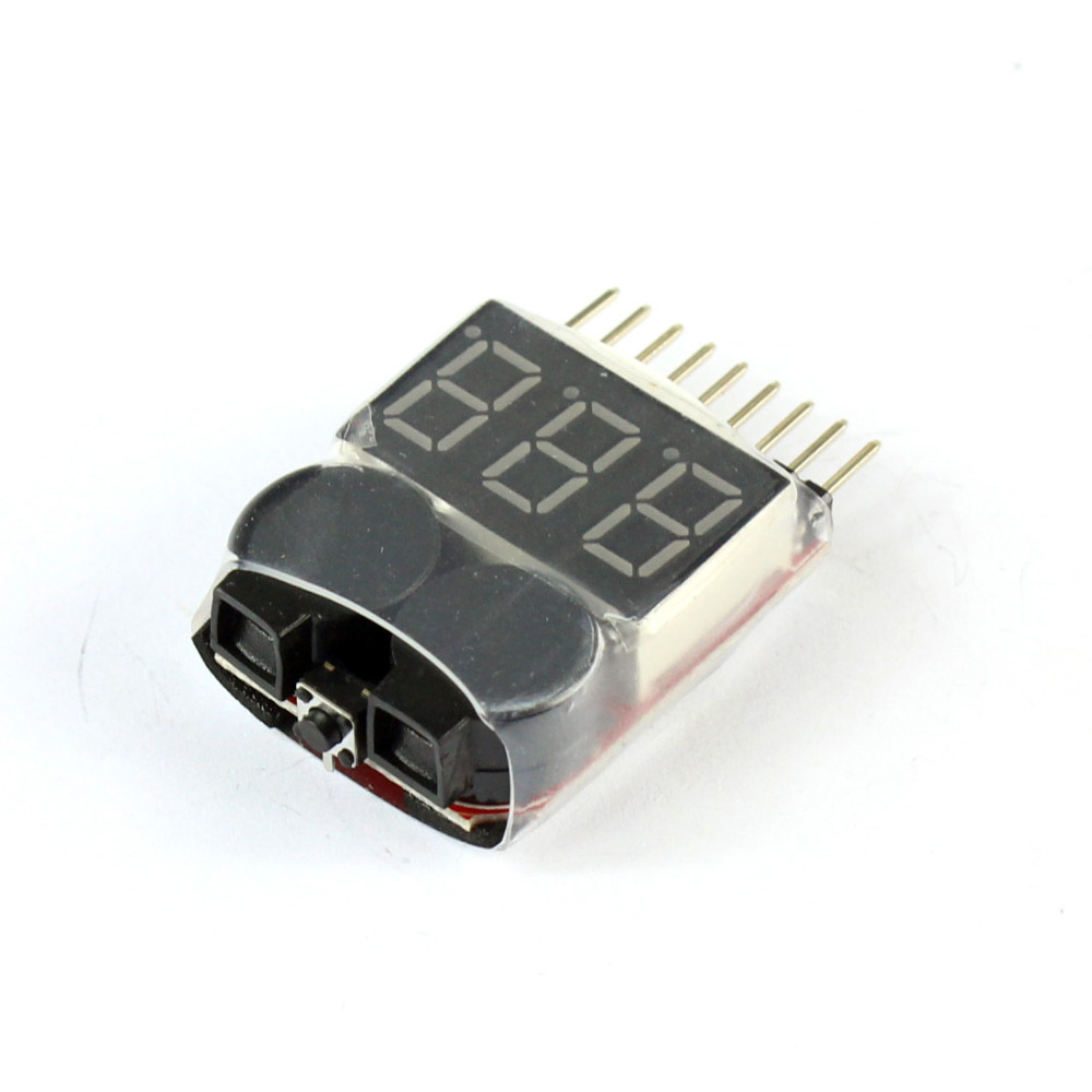 F00872-100 Lipo testeur de tension de batterie Volt mètre indicateur vérificateur double haut-parleur 1 S-8 S basse tension Buzzer alarme 2in1 2 S 3 S 4S8S