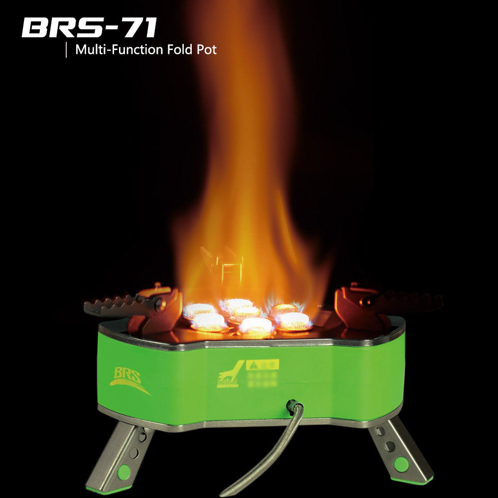 BRS-71 Portable Outdoor Camping Stove Butagas LPG Gas Cooking 9800W Picnic Gas Stove Butane Gas Burner Bruciatore mini portable butane stove for outdoor travel camping picnic silver black page 2 page 4