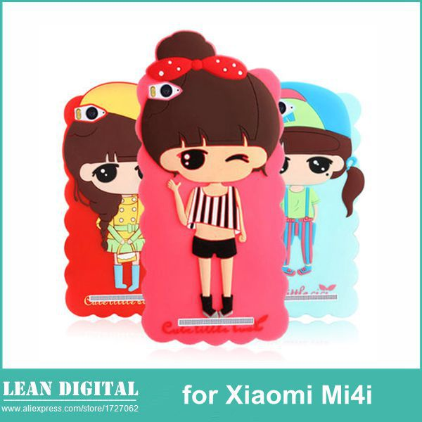 separation shoes a897a d9826 US $7.49 |Cute 3D Cartoon Style Xiaomi Mi4i Rubber Back Cover Silicone Case  for Xiaomi 4i Mi4i M4i Mobile Cell Phone Case Free Shipping on ...