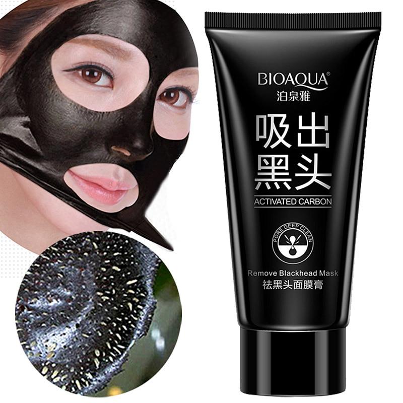 Facial Black Mask Health Suction Acne Nose Blackhead Remover Mask Peeling Peel Off Blackhead Face Care Mud Facial Mask -50