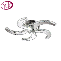 Free Shipping Wholesale Or Retail Cyclone Style Clear Champage Led Lamp For 5 Lights D64 H11cm