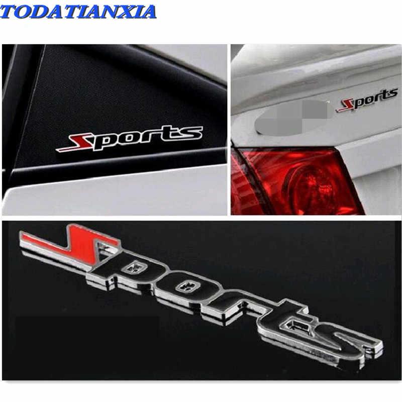 Auto 3D Metalen Sport Emblem Sticker voor dacia duster mitsubishi asx suzuki vitara alfa romeo 156 fiat grande punto audi q5 opel