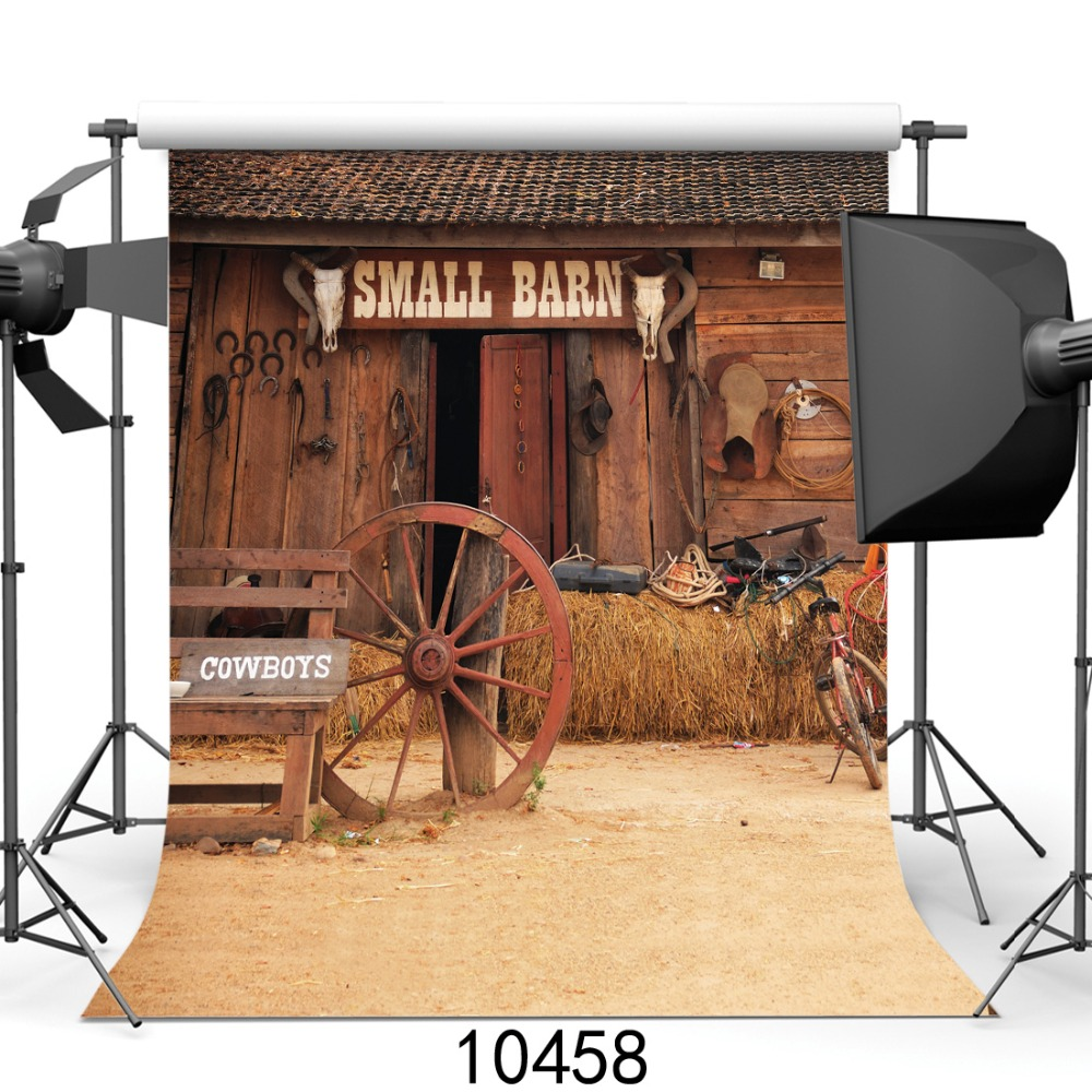 SJOLOON 8x8ft small barn for cowboys photography background customized baby photo backdrops for photography studio thin vinyl sjoloon christmas photography background baby photo backdrops computer print photo background fond photo studio thin vinyl props