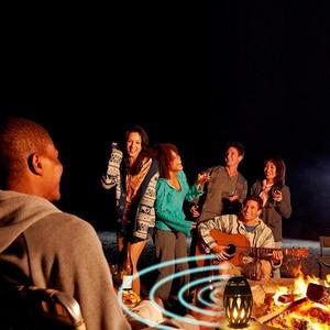 Image 3 - Draadloze Speaker Led Vlam Licht Speaker Draagbare Bluetooth Luidspreker Outdoor Speler Met Led Flame Torch Licht Flikkeren Licht