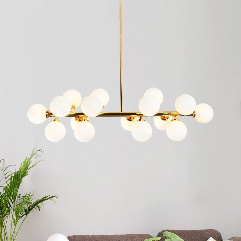 US $121.72 55% OFF|Nowoczesne lampy wiszące led kolor biały mleczny magiczna fasola lampa kula szklana kula klosz lampy wiszące lampy wiszące|lamps