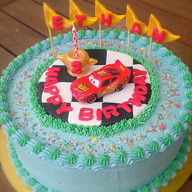 Boy Birthday Cars Cake Tooper Decorating Lightning Mc Queen For