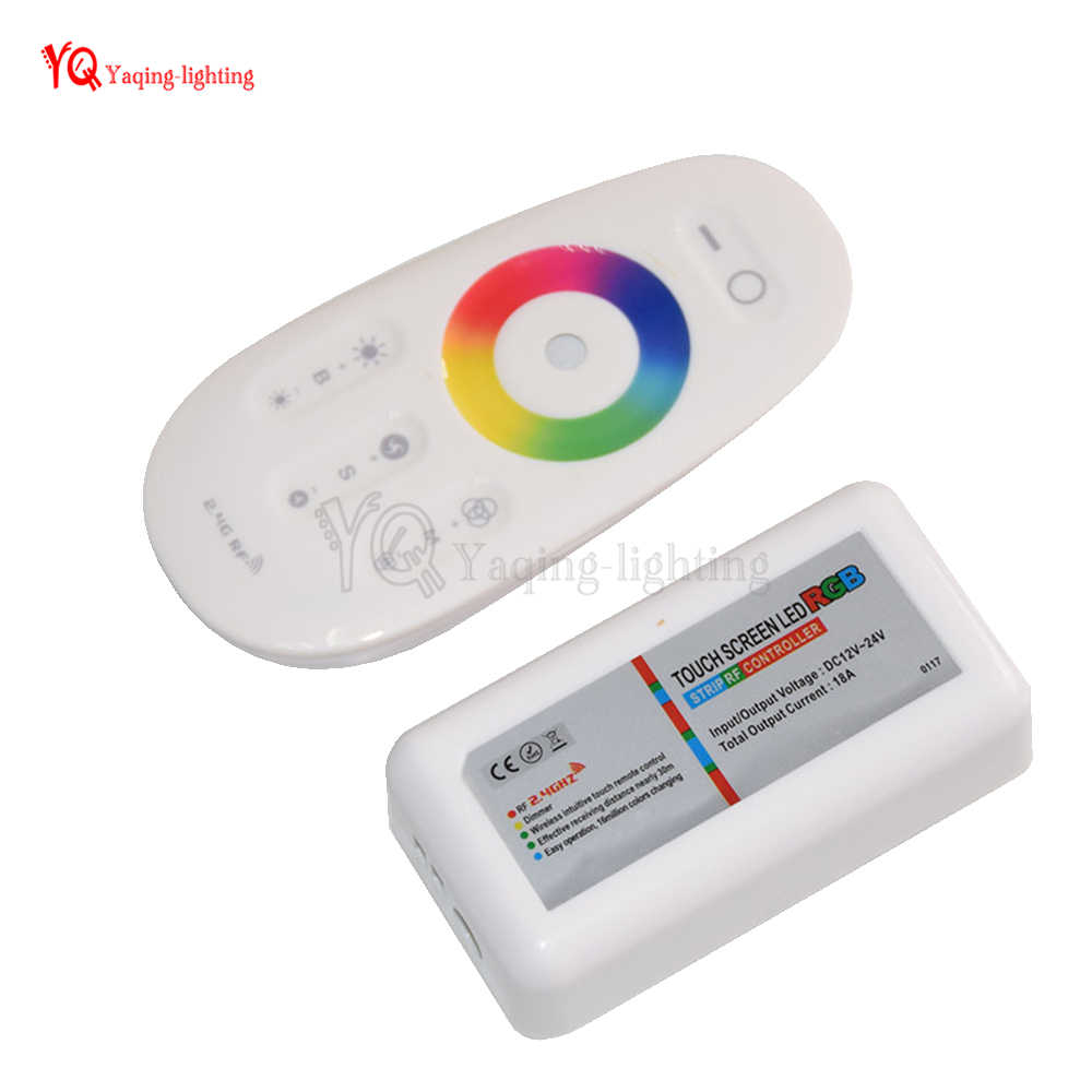 0c9693035bc DC 12V 24V RGBW RGB LED Controller RF Touch Screen Remote Control 6A per  Channel for