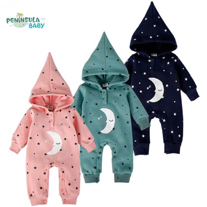 Baby Rompers Hoodies Thick Cotton Winter Babys Boys Outerwear Girls Warm Clothes Kids Jumpsuit Baby Crawling