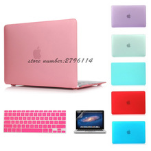 Matte Case For Apple Macbook Air 13 Case Air 11 Pro 13 Retina 12 13 15 Laptop Bag For Mac book Keyboard Cover+Screen film
