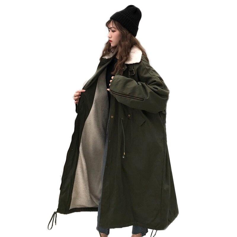 Grande Coton blue Chaud Taille Veste D'hiver Lâche Femme Pardessus Armygreen Rembourré De Épais Femmes Parka TZ8w4q4