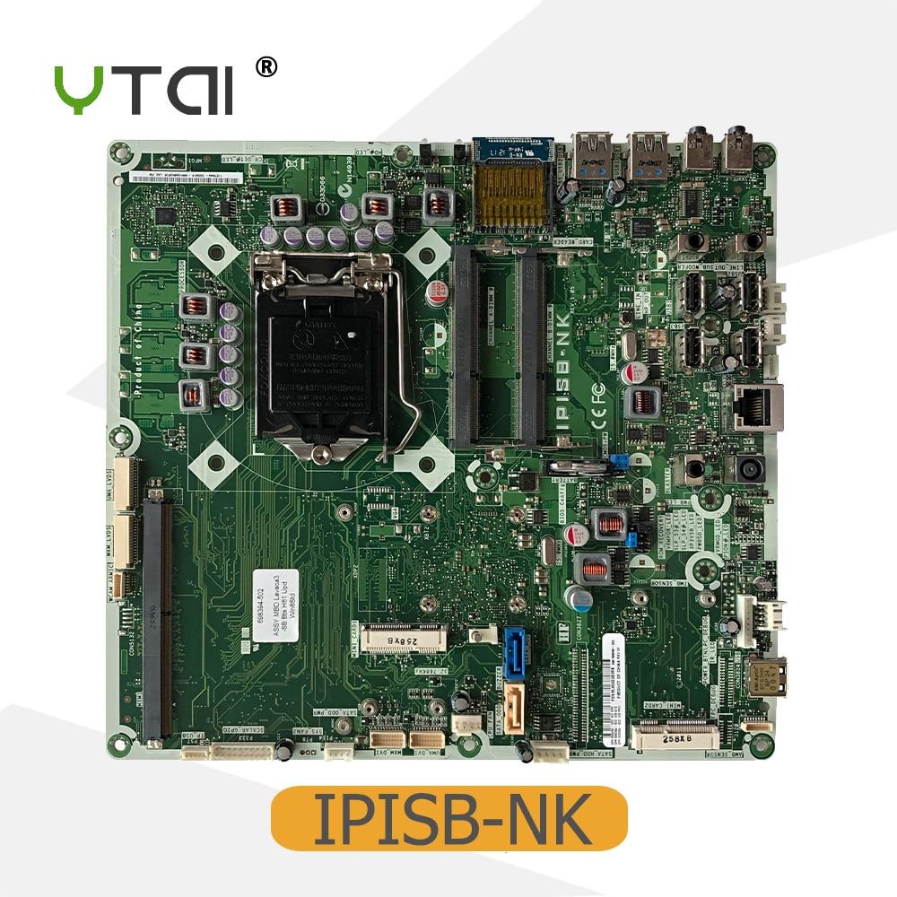 YTAI For HP TouchSmart 520 220 AIO Motherboard IPISB-NK LGA1155 DDR3 mainboard free shipping 19v 9 5a ac adapter power charger for hp touchsmart 9100 aio iq500 iq502 iq510 520 1000 520 1100 520 1200 desktop pc