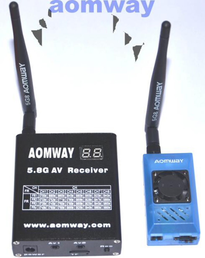 Aomway RC Model airplane FPV drone spare parts image transmission 5.8G AV receiver 5db antenna 1W large power longest distance original aomway rx006 dvr video recorder 5 8g 48ch diversity raceband a v receiver for rc multicopter antenna transmitter part