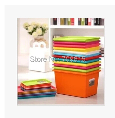 colorful Storage plastic box with cover storage bins home decoration storage basket Desktop Organizer Finishing Box Retail-in Storage Boxes u0026 Bins from Home ... & colorful Storage plastic box with cover storage bins home decoration ...