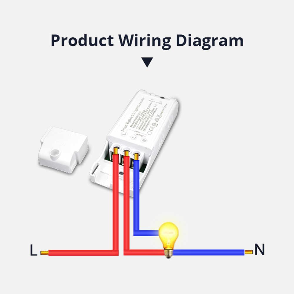Interruptor Zigbee 3,0 para el dispositivo casero de bricolaje Control remoto inteligente por Smartthings Echo Plus Suit para la mayoría de Zigbee Hub