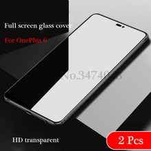 2Pcs/lot Premium Tempered Glass For OnePlus 6 5 5T Screen Protector Oneplus6 Full screen glass cover 1+6 A6000 Anti-Blu-ray