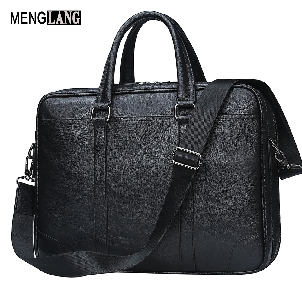 Men Briefcase With Quality Leathe Famous Brand 15.6 inch Commercial laptop Business Briefcase For Men Crossbody shoulder bag jacodel business large crossbody 15 6 inch laptop briefcase for men handbag for notebook 15 laptop bag shoulder bag for student