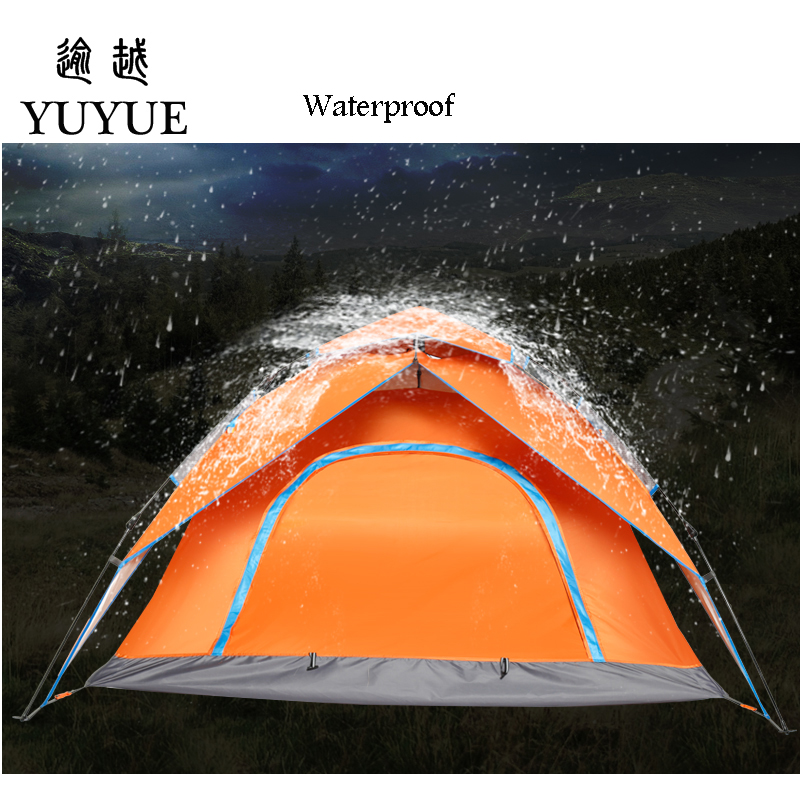 3-4 Person Automatic Pop Up Tent Double Layers Waterproof Camping Tent Outdoors Camping Equipment Fishing Tents Outdoor 2