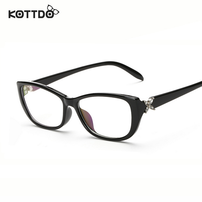 KOTTDO Butterfly Small Square Womens Fashion Eye Glasses ...