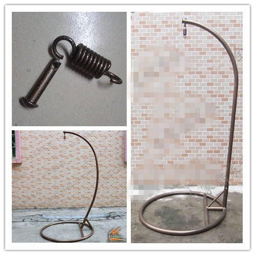 hanging chair bolt overstuffed chairs for the living room rattan basket boom bracket thickened tiejia single or double swing floor hoop spring screw fittings