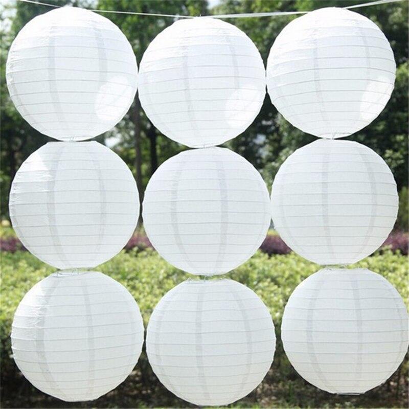 Envío Gratis 5 Unids 6 Pulgadas Blanco Linternas de Papel Chinas Para El Banquet