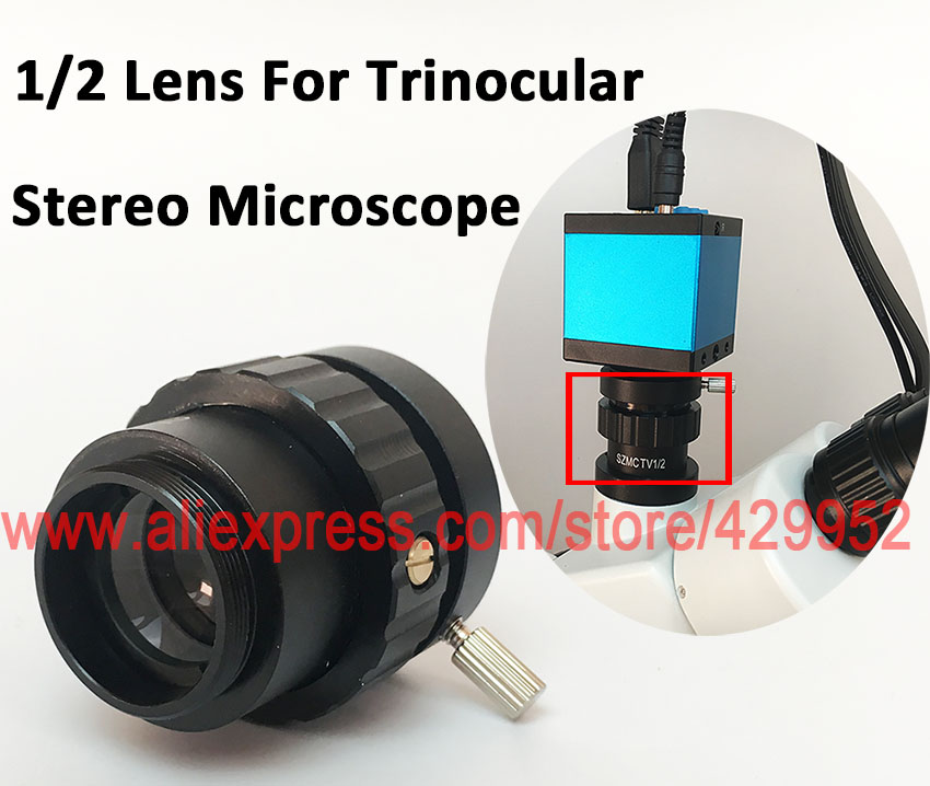 0.5X 0.3X C-Mount Lens 1/2 1/3 CTV Adapter For SZM Video Digital Camera Trinocular Stereo Microscope Accessories цена