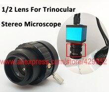 Wholesale 0.5X 0.3X C-Mount Lens 1/2 1/3 CTV Adapter For SZM Video Digital Camera Trinocular Stereo Microscope Accessories