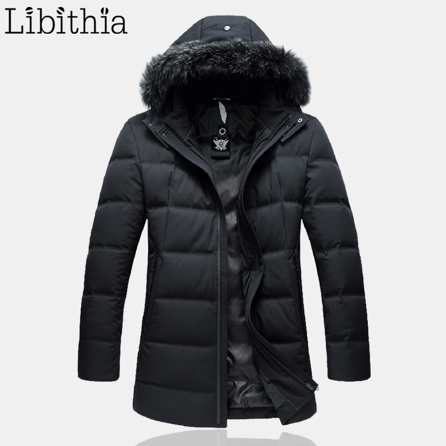 Men's 90% White Duck Down Jackets With Hat Black Navy Blue Long Clothes Male Big Size 4XL 5XL 6XL 7XL Winter  Warm Coats F079 owl style male baby s organic cotton knitting warm hat w earflaps blue black white green