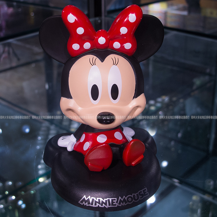 Funny Cute Mickey Mouse Car Nodding Simulation Shakes Head Shaking Doll For Car Decoration Furnishing Articles