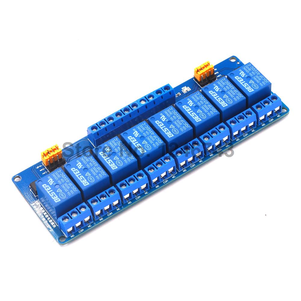 1PCS 3.3V 8 Channel Relay Module High and low Level Trigger Dual Optocoupler Isolation 3.3V Relay Module