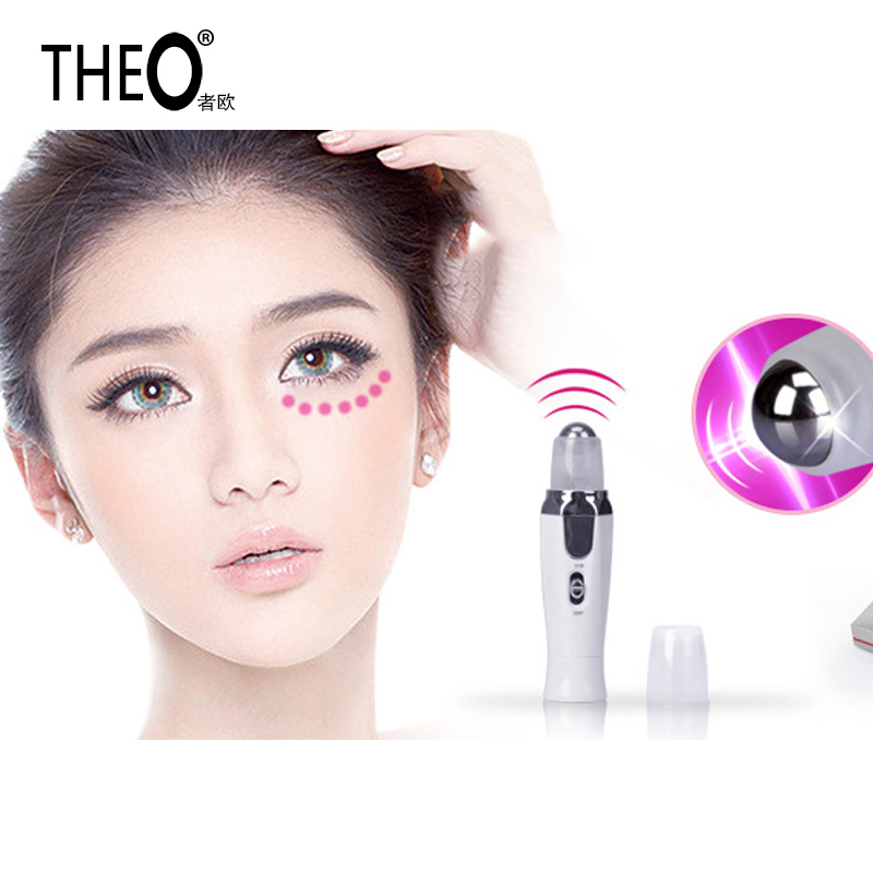 Theo Brand new Beauty Machine Galvanic Eye Massager + Softy Eye Gel Face Massage Machine Anion Remove Dark circles HQT-1228