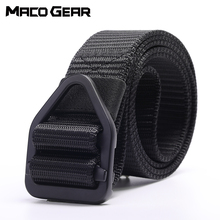 купить Nylon Tactical Belt Military Alloy Metal Buckle Waist Support Sports Outdoor Swat Hunting Training Camping Combat Army Waistband дешево