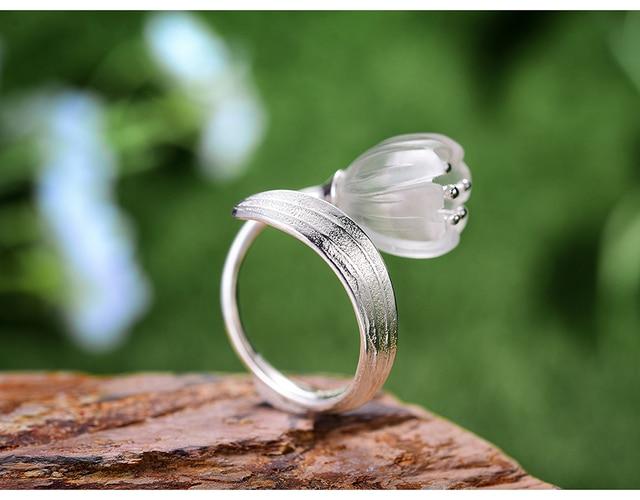 Natural Crystal Handmade Fine Flower Ring16