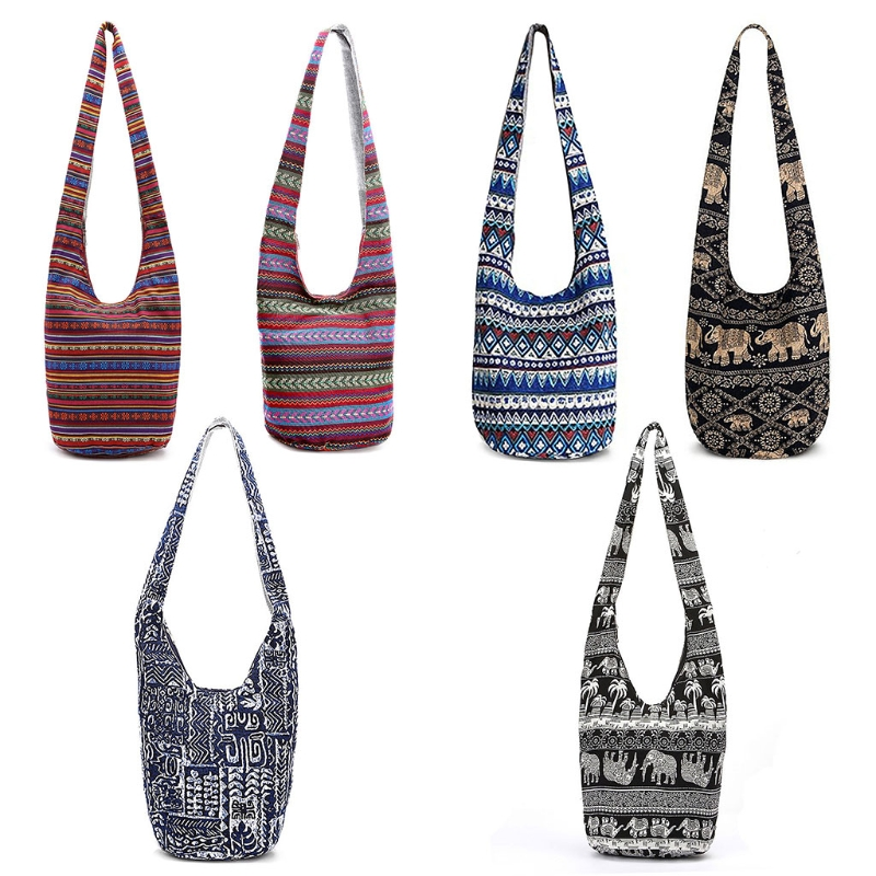 Women Hippie Shoulder Bags Travel Bag Large Ethnic Tote Handbag