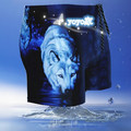 New  Man Swimming Trunks Animal Design 3D Wolf Pattern Bathing Suits Summer Beach Swimwear Boxer for Adult Quick Drying